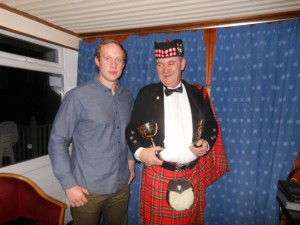 Andy Dolan receiving a volunteer award in 2012 from Chris Hill
